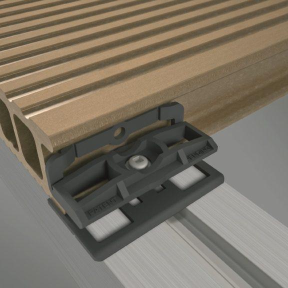 Łączniki PVC 100 szt. do deski 9555 + wkręty (nr kat. 9483)