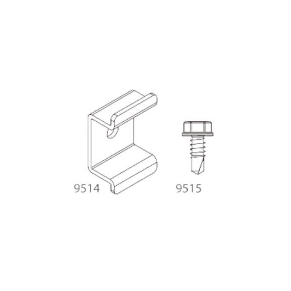 Łączniki do legarów 9524 + wkręty (nr kat. 9489)